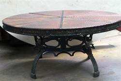 Coffe copper tables-table
